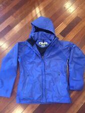 COLUMBIA INTERCHANGE OMNI-TECH Womens Blue Nylon Shell Jacket Medium