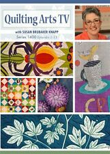 DVDs ONLY!  Quilting Arts TV Series 1400 with Susan Brubaker Knapp 4-Disc Set
