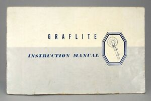 GENUINE GRAFLITE INSTRUCTION MANUAL!! EXCELLENT CONDITION!!