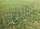Dog Agility Equipment 12 Weave Poles on a PVC Base  FREE US shipping