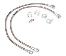 "Jeep TJ YJ & XJ 87-06 26"" Long Stainless Steel FRONT Extended Brake Line Kit DOT"