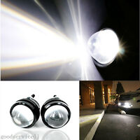 2 Pcs 5W CREE Projector Lens White LED Fisheye Car DRL Daytime Lights Fog Lamps