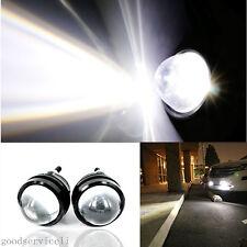 2 Pcs 5W CREE Projector Lens White LED Fisheye Car DRL Daytime Lights Fog Lamps