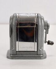 Vintage Boston Pencil Sharpener Ranger 55 6 Slot Rare Gray Sharpener
