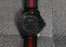 GUCCI G-Timeless Striped Nylon Sport Watch YA126229