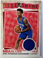 2018 Panini NBA Hoops Rise N Shine Winter Shai Gilgeous-Alexander Rookie Jersey