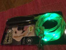 New listing Litey Leash Green Lights 5 Ft Nighttime Leash