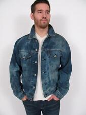 REPLAY BLUE JEANS ITALY MANS ACID WASH DENIM TRUCKER JACKET COAT EXCELLENT~XL