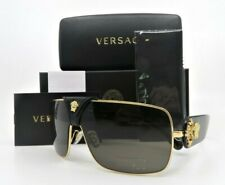 Versace VE2207-Q 1002/3 BAROQUE Gold Shield Medusa Havana New Sunglasses w/Box