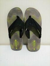 Men's Merrell Flip Flops Size 12 Black Green Oasis