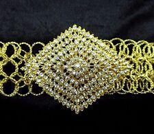 VINTAGE THAI TRADITIONAL GOLD PLATED CHAIN BELT COSTUME WOMEN FASHION WEDDING