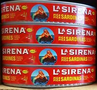 13 Cans Pack - La Sirena Pica Pica Sardines in Spicy Tomato Sauce Sardinas Chile