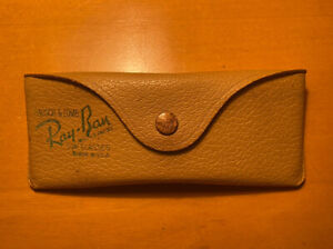 Vintage Rare Ray-Ban Bausch & Lomb Small Aviator Sunglasses CASE Leather
