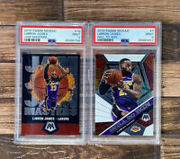2019 Mosaic Lebron James WILL TO WIN And Jam Masters PSA 9 MINT LAKERS