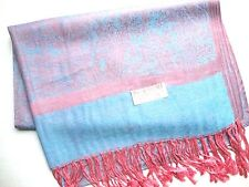 NEW Pashmina Winter Scarf Scarves Silk Pink Blue Floral Paisley Shawl Wrap Range