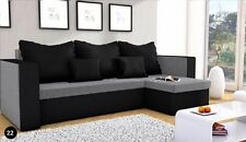 Brand New Corner Sofa Bed MOJITO GREY AND BLACK With Underneath Storage