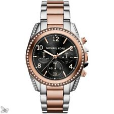Michael Kors Blair Chronograph Black Dial Two-tone Ladies Watch MK6093