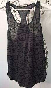AllSaints Ladies Size Medium Linen Blend Animal Print Vest