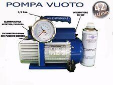 POMPA VUOTO 42LT CONDIZIONATORE FRIGO GAS R134A R410A R407C R404 R600A R22 R12