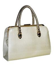Fashion Womens Bag Satchel Ivory  Faux Leather Purse Tote Hand Bag