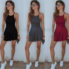 Women Summer Casual Sleeveless Evening Party Beach Dress Short Mini Dress