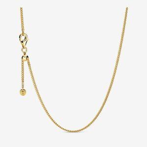 Pandora 368283 Curb Chain Necklace 60CM Gold ALE S925
