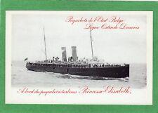 Paquebot SS Princess Elizabeth pc unused postal stationery Belgium Ref M963