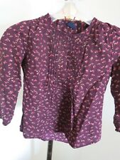 EUC GAP KIDS Girls Long Sleeve Floral Pintucked Shirt Size M 8
