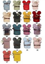 18 Colors MICKEY MOUSE SHAPE NAME ID CARD BADGE HOLDER WALLET PURSE NECK LANYARD