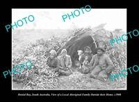 OLD LARGE HISTORIC PHOTO DENIAL BAY SOUTH AUSTRALIA ABORIGINAL FAMILY c1906