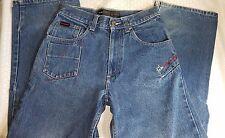 FUBU Circa The Collection Womans Denim Blue Jeans Sz 14 100% Cotton Dungarees