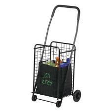 Honey Can Do CRT 01511 Medium Folding Shopping Cart Rolling 4 Wheel Utility WAGO