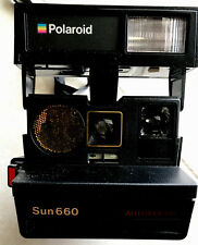 Vintage Polaroid Camera Sun 660 Autofocus Instant Film Flash Retro 80's w/ Strap