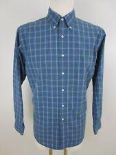 Ralph Lauren Herren Hemd Freizeit Gr.L Blau Grün Grau Kariert Button-Down-Kragen