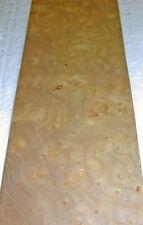 "Carpathian Elm Burl wood veneer 2.5"" x 8"" raw with no backing 1/42"" thick"