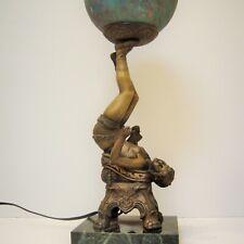 Antique Art Deco Female Tumbler on Marble Base