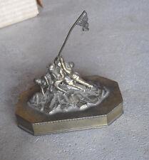 "Vintage 1950s Brass Metal Iwo Jima Washington DC Figurine 3 3/4"""