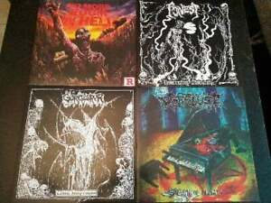 Death Metal Vinyl LP Packet - Sammlung Massacre Asphyx Epitaph Traumatic Grave