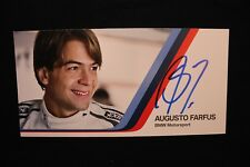 Card BMW Motorsport Team RBM DTM 2013 #7 Augusto Farfus (BRA) Signed