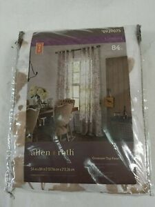 Allen + Roth Candian 84-in Tan Polyester Semi-sheer 0939075