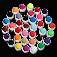 36 Pot Pure Color UV Gel Nail Art Tips Shiny Cover Extension Manicure DIY Decor