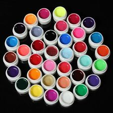 36 Pot Pure Color UV Gel Nail Art Tips Shiny Cover Extension Manicure DIY Decor