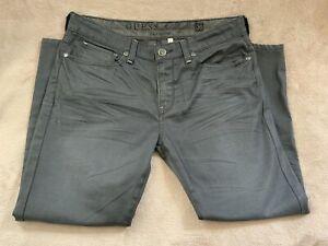GUESS Los Angeles Premium Lincoln Slim Straight Charcoal Denim Men's Jeans 36x26