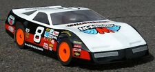 "Standard 1/10 Clear RC car body. ""FIREBIRD"" Street Stock 9"" wide dirt oval #256"