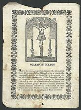 Lamina grabado antique de Jesus santino image pieuse estampa