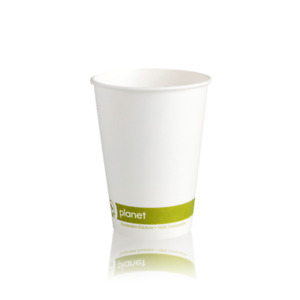 Recyclable Coffee Cup 12oz  Set of 50 - Biodegradable Paper Hot drinks Cups