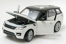 Range Rover Sport White, Welly 24059, scale 1:24, model adult boy gift