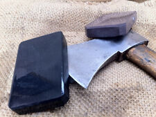 PAIR OF NATURAL HONE SHARPENING STONE IDEAL FOR AXE HATCHET RAZOR  leather craft