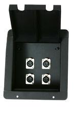 Recessed Audio Stage Floor Pocket Box w/4 -XLR Female Mic Connectors Elite Core