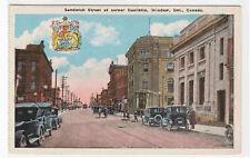 Sandwich Street Cars Windsor Ontario Canada postcard
